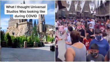 Universal Studios social distancing