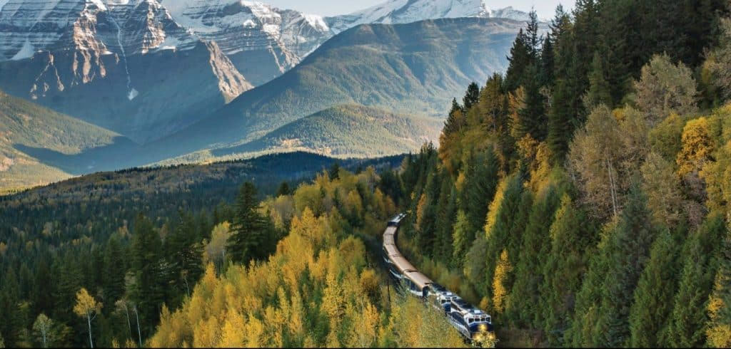 luxury train rockies