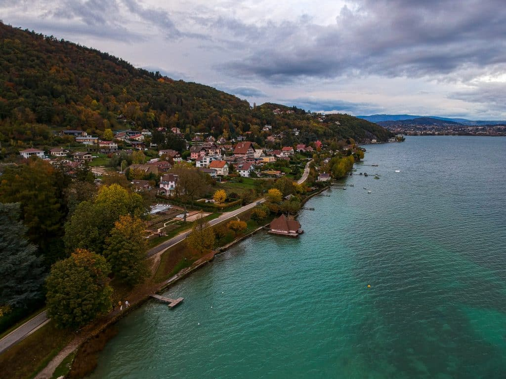 Calm waters of Lake Annecy