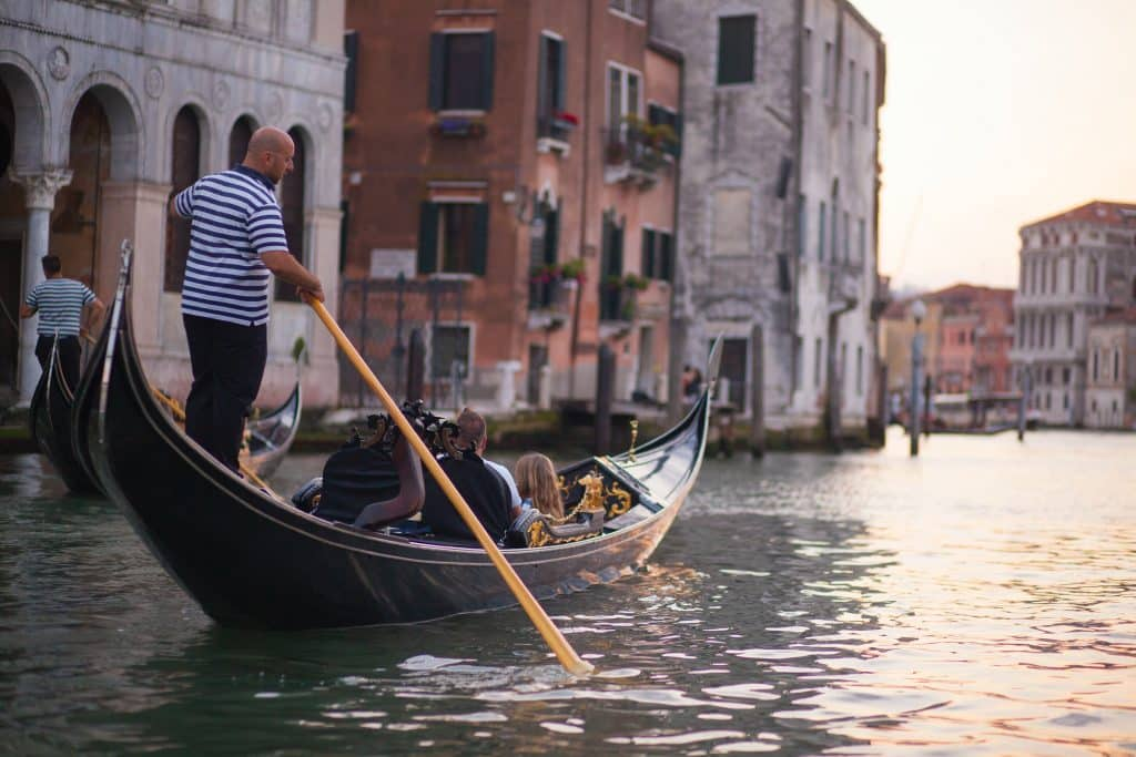 Venice is famous for its Gondola Rides
