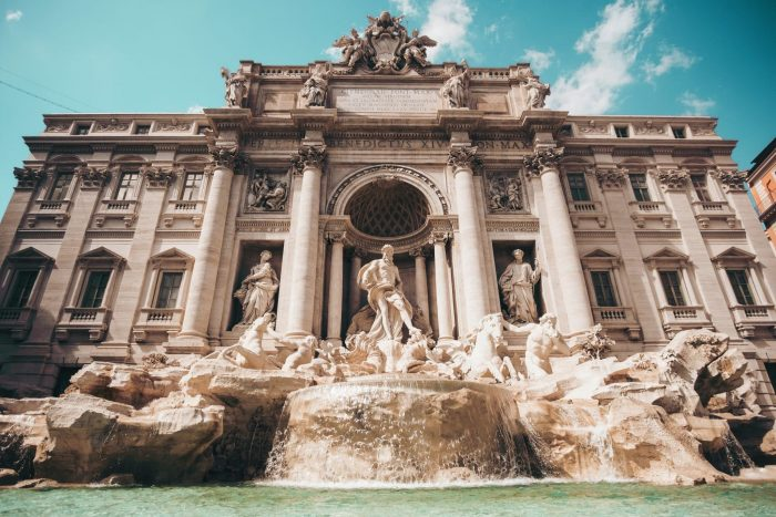 The Trevi Fountain is one of the things Rome is famous for