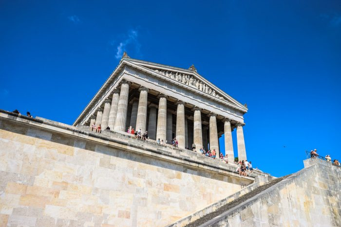The most famous monuments in Germany Walhalla Hall of Fame