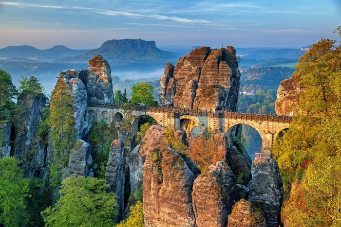 The most famous monuments in Germany Bastei Bridge
