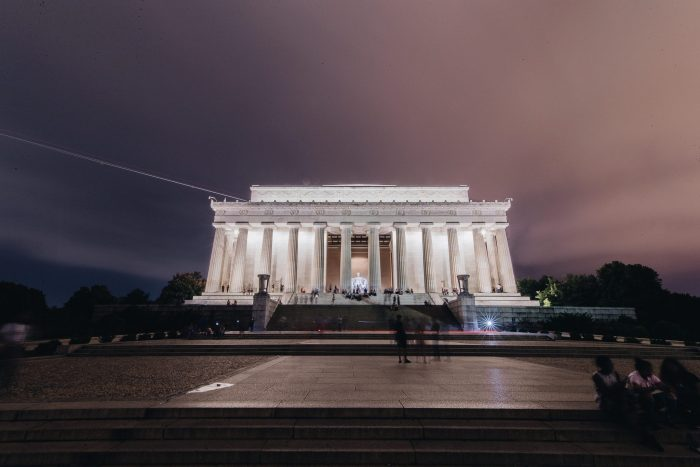 The most famous monuments in the US The Lincoln Memorial