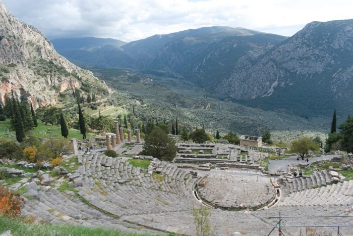Most famous monuments in Greece Delphi