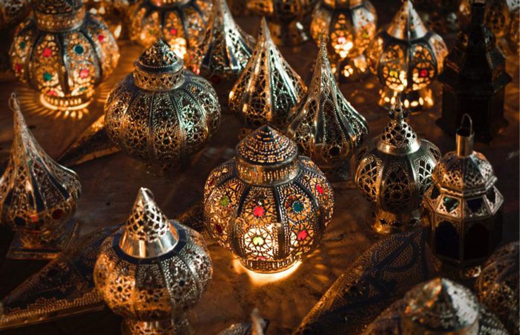 Brass lanterns Morocco